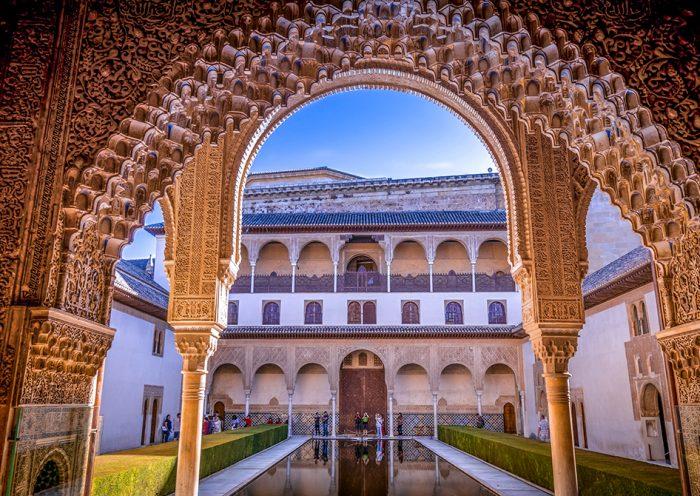 Patio de la Alhambra, visitar Granada