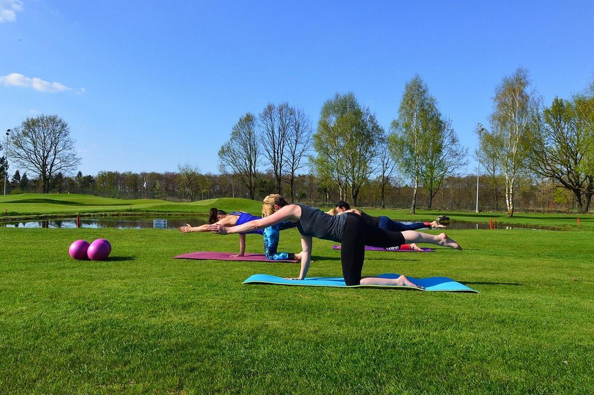 Pilates en el parque