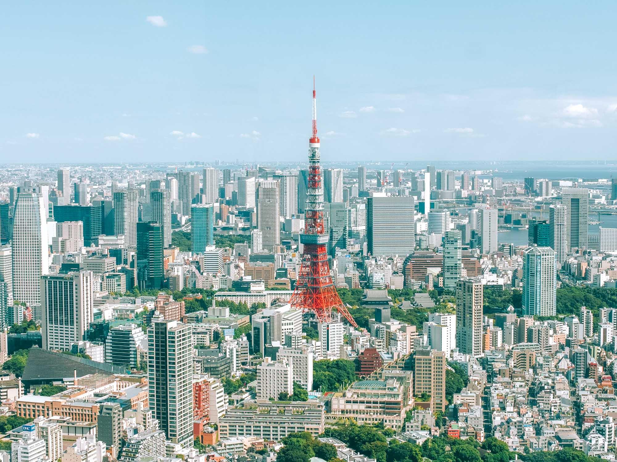 Vistas desde el Museo de Arte Mori en Tokio